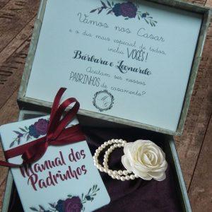 caixa manual padrinhos de casamento