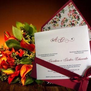convites clássicos com floral, convites shabby chic, convites rústicos