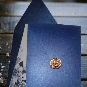convites cor azul galáxia perolizado