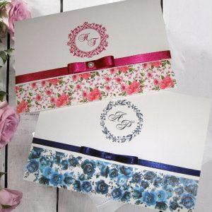 Convite estampa floral