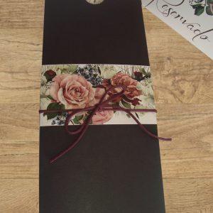 marrom floral rose