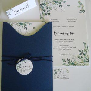 Convite rustico azul