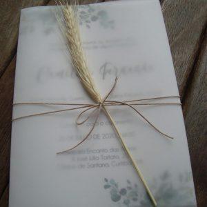 Convite rústico trigo