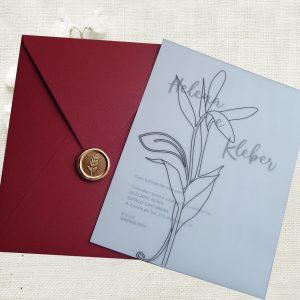 convite clássico minimalista
