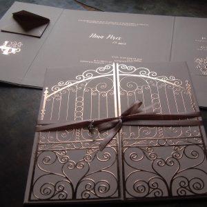 convite portão Alice